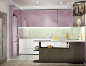 Violets and mint liaves kitchen_2
